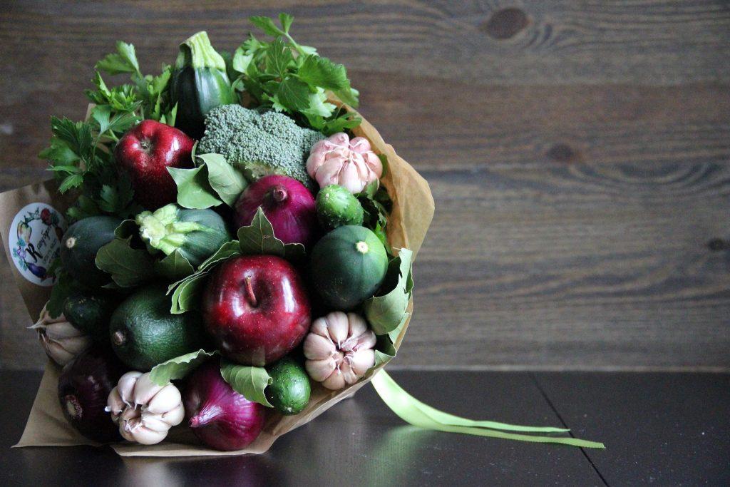 Как сделать букет из овощей своими руками 3